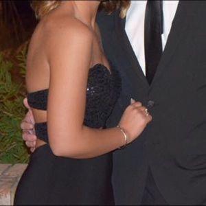 Simple Dresses Dresses - Black strapless formal prom dress
